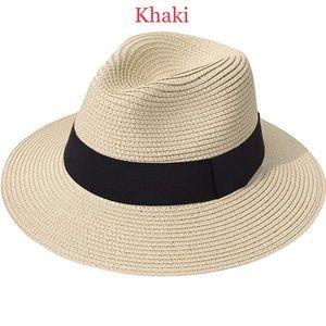 Accessories - Wide Brim Straw Panama Roll up Hat Fedora